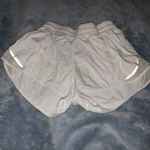 White Lululemon atheltic shorts